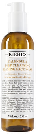 Beauty essentials for radiant skin-Kiehl´s Calendula Deep Cleansing Foaming Face Wash. What you need for a fair complexion.