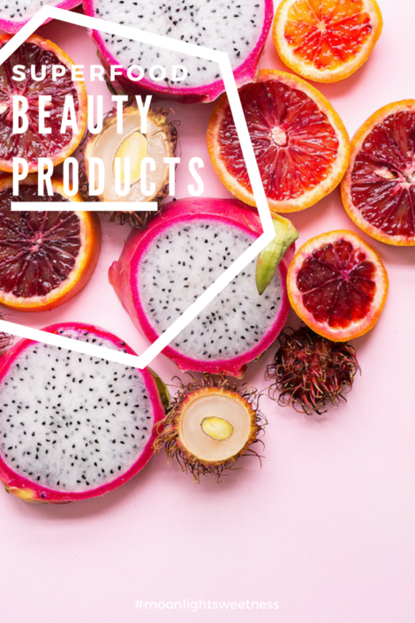 Superfood beauty products that provide skin with essential vitamins, antioxidant benefits and give a natural glow.