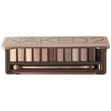 Urban Decay Naked2 Palette is filled with luminous eyeshadow shades with finishes ranging from shimmer to sparkle to the smoothest mattes imaginable. The 12 never-boring taupe-hued neutrals help you expand your Naked range to create even more sultry neutral looks, smoky dramatic looks and everything in-between. It includes a professional-quality, cruelty-free double-ended shadow/blending brush.