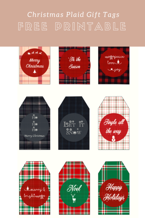 free printable christmas plaid