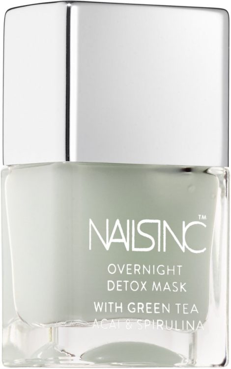 NAILSINC overnight detox mask with green tea+acai+spirulina-Superfood beauty products that nourish skin and provide essential vitamins + antioxidants.