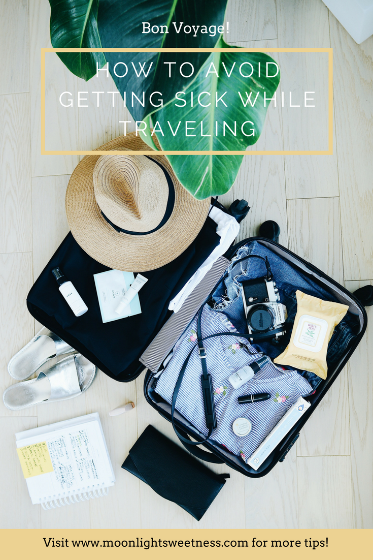 Tips and ideas on how to stay healthy and not get sick while traveling. What you need to know so you can enjoy your trip to the fullest. Find out more about which products and travel hacks are necessary for healthy travel.